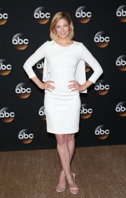 Analeigh Tipton donned a caped LWD by Paule Ka for the TCA Summer Press Tour.