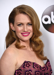 Mireille Enos showed off retro-glam curls at the Disney ABC Television Group Winter TCA Tour.