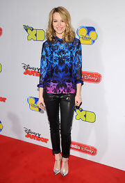 Bridgit Mendler added a little edge to her red carpet look with these leather pants.