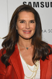 Brooke Shields left her hair loose in a lovely wavy style for the screening of 'The Jungle Book.'