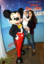 Jordana Brewster donned a red velvet blazer for the 'Disney on Ice: Follow Your Heart' event.