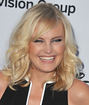 Malin Akerman's platinum blonde waves looked totally Marilyn Monroe-like at the Disney Media Upfront in Burbank.
