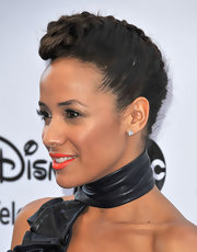 Dania Ramirez rocked a braided updo that resembled a cool pompadour!