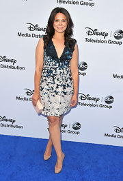 Katie Lowes kept her look pretty and flirty with this V-neck frock.