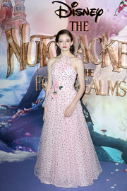 Mackenzie Foy was sweet and glam in a strapless pink polka-dot gown by Rodarte at the European premiere of 'The Nutcracker.'