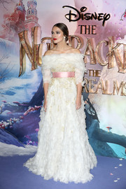Keira Knightley was a dream in this white off-the-shoulder confection by Chanel Couture at the European premiere of 'The Nutcracker.'