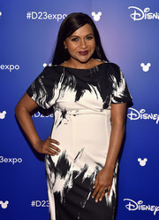 Mindy Kaling sported a chunky geometric ring at the D23 Expo 2017.