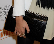 Zoe Kravitz finished off her look with a school girl inspired Amber Spiral Notebook clutch. The perfect accessory to round out her look.