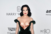 Dita Von Teese Off-the-Shoulder Dress