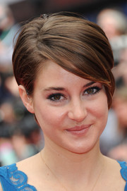 Shailene Woodley rocked a short emo cut at the European premiere of 'Divergent.'