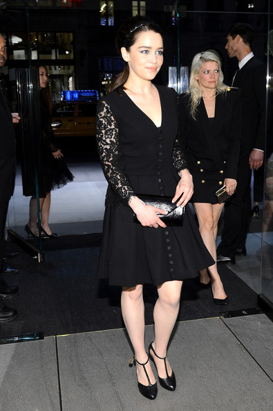 More Pics of Emilia Clarke Little Black Dress (1 of 12) - Emilia Clarke Lookbook - StyleBistro