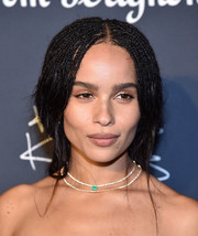 Zoe Kravitz accessorized with a lovely pair of Anita Ko necklaces.