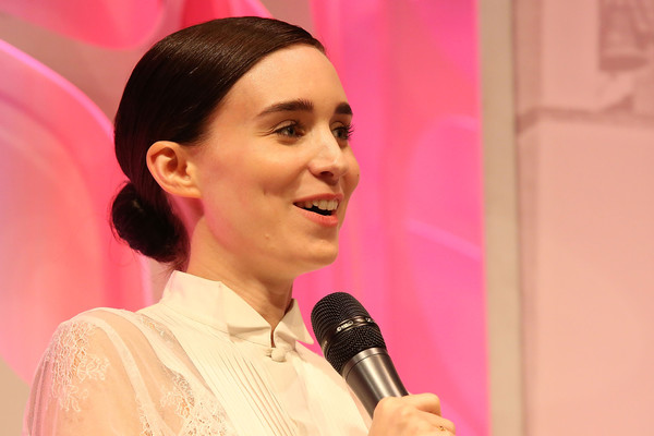 Rooney Mara kept it demure with this side-parted chignon at the 2016 Santa Barbara International Film Festival.