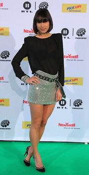 Medina stepped out in studded heels at  The Dome 54 event.