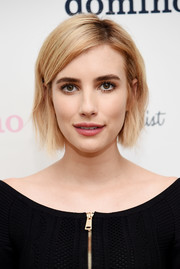 Emma Roberts kept it classic with this blonde bob at the Domino x American Express Platinum event.
