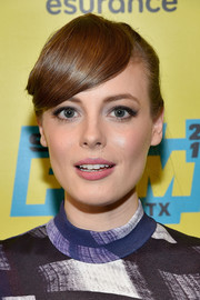 Gillian Jacobs styled her hair into a braided updo with emo bangs for the SXSW screening of 'Don't Think Twice.'