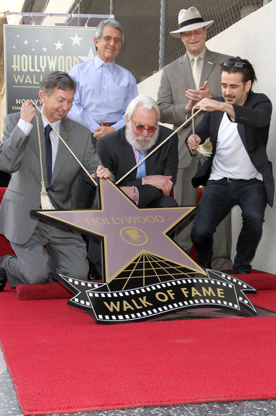 Donald Sutherland Honored On The Hollywood Walk Of Fame