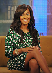 La La Anthony added some sparkle to her look with a pair of gold and diamond bangles during her appearance on 'Fox and Friends.'