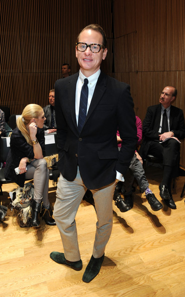 Carson Kressley's black blazer topped off his classic preppy look at the Douglas Hannant runway show.