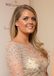 Kitty Spencer complemented her beaded gown with a pair of diamond studs.