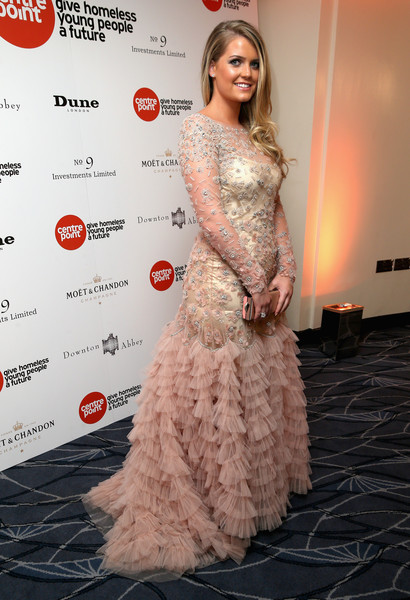 More Pics of Kitty Spencer Long Wavy Cut (1 of 6) - Long Hairstyles Lookbook - StyleBistro [clothing,red carpet,dress,carpet,gown,shoulder,flooring,fashion,beauty,hairstyle,red carpet arrivals,kitty spencer,the savoy hotel,london,england,downton abbey ball,the downton abbey ball]
