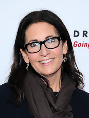 Bobbi Brown kept her dark hair styled in her signature straight 'do at the 'Dress for Success' event in NYC.
