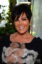 Kris Jenner's nude lips brought out the bronze in her skin, making her look springtime-ready at DuJour Magazine's Spring issue celebration.