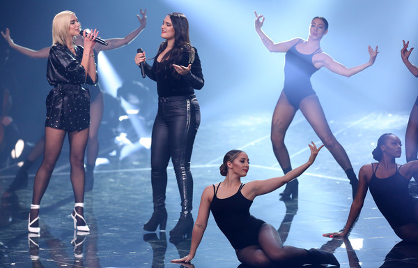 Dua Lipa Leather Jacket [the voice of germany,performance,entertainment,performing arts,dancer,choreography,dance,performance art,event,stage,musical,freschta akbarzada,berlin,germany,l,dua lipa,finals,finals]
