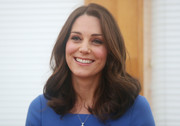Kate Middleton looked adorable with her bouncy curls during her visit to Roe Green Junior School.