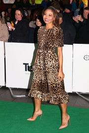 Emma Thynn attended the Tusk Conservation Awards wearing a classic leopard-print dress.