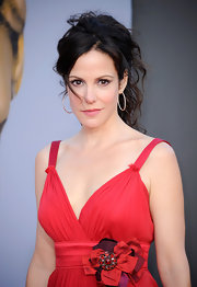 Mary-Louise Parker paired her summer-friendly Dolce & Gabbana gown with messy curls at the BAFTA Brits to Watch event.