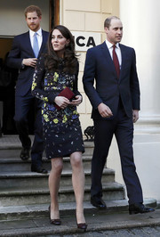 Kate Middleton looked perfectly polished, as always, in a floral sheath dress by Erdem while attending a Heads Together event.