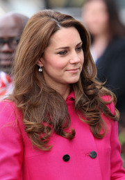 Kate Middleton looked sweet with her curly ends while attending an event at the Stephen Lawrence Centre.