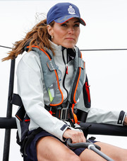 Kate Middleton traded in her fancy fascinators for this sporty baseball cap while taking part in the King's Cup Regatta.