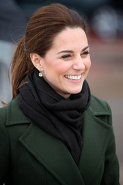 Kate Middleton kept it simple and classic with this ponytail while visiting Blackpool.