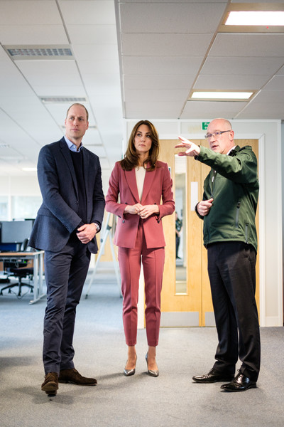 Kate Middleton visited the London Ambulance Service 111 Control Room wearing a rose-colored suit from Marks & Spencer's Autograph line.