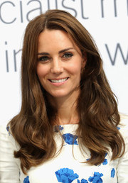 Kate Middleton looked like a shampoo model with her luxuriant waves while visiting Luton.