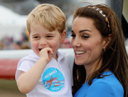 Kate Middleton kept her locks away from her face with a dotted headband when she attended the Royal International Air Tattoo event.