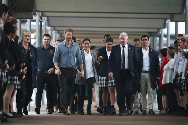 More Pics of Meghan Markle Ankle Boots (4 of 177) - Boots Lookbook - StyleBistro [social group,event,uniform,team,crowd,white-collar worker,harry,australia,sussex,duchess,cities,dubbo,duke of sussex,duke and duchess of sussex visit,clontarf foundation and girls academy,tour]