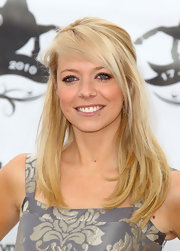 Liz Mcclarnon rocked a slightly disheveled but still pretty half-up half-down 'do at the Duke of Essex Polo Cup.