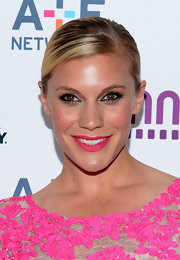 Katee Sackhoff rocked a sleek bun at the A&E Upfront event in NYC.