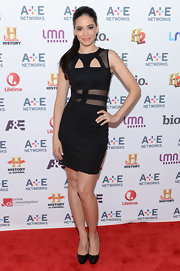 Edy Ganem showed off just a bit of skin on the red carpet when she opted for this cutout LBD.