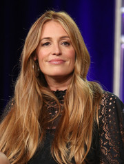 Cat Deeley framed her face with a long center-parted hairstyle for the 2018 Winter TCA Press Tour.