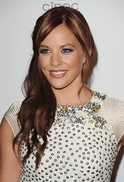 Amy Paffrath looked dazzling in her embellished dress. Her fiery red curls topped off her look.