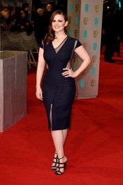Hayley Atwell looked amazing in a LBD with sheer net details at the 2015 British Academy Film Awards.