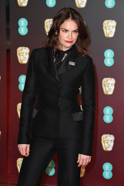 More Pics of Ruth Wilson Evening Sandals (2 of 4) - Heels Lookbook - StyleBistro [clothing,suit,pantsuit,fashion,formal wear,carpet,outerwear,tuxedo,long hair,red carpet,red carpet arrivals,ruth wilson,ee,england,london,royal albert hall,british academy film awards]