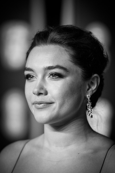 Florence Pugh styled her hair into an elegant loose bun for the 2018 BAFTA Awards.