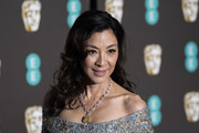 Michelle Yeoh looked lovely with her loose curls at the EE British Academy Film Awards.