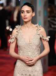 Rooney Mara accessorized with a pair of elegant diamond rings at the 2016 EE British Academy Film Awards.