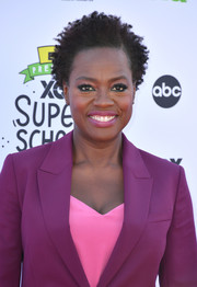 Viola Davis attended the XQ Super School Live wearing her natural curls.